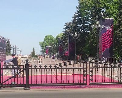 УКиєві відкрили містечко Євробачення