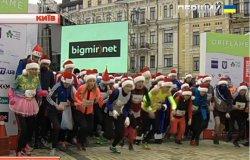 Марафон у новорічних шапках відбувся у Києві